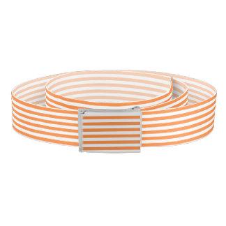 Orange and White Stripe Pattern Belt