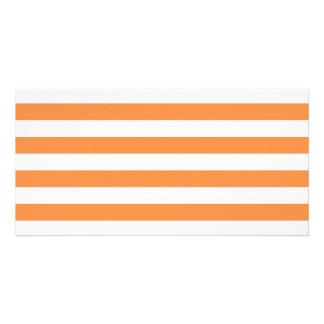 Orange and White Stripe Pattern Card
