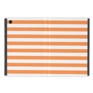 Orange and White Stripe Pattern Case For iPad Mini