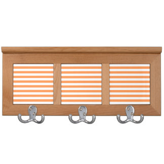 Orange and White Stripe Pattern Coat Rack