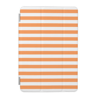Orange and White Stripe Pattern iPad Mini Cover