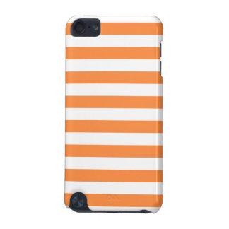 Orange and White Stripe Pattern iPod Touch 5G Case