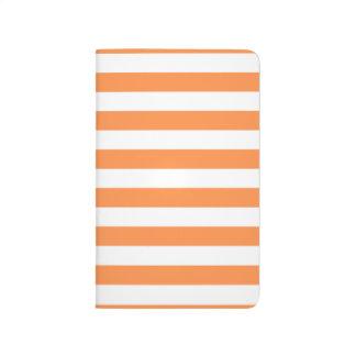 Orange and White Stripe Pattern Journal