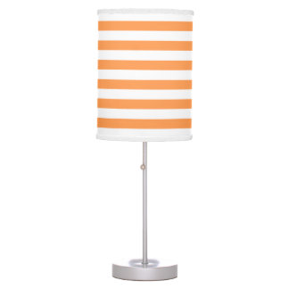 Orange and White Stripe pattern Table Lamp