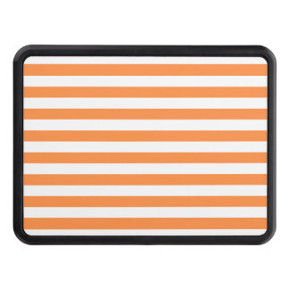 Orange and White Stripe Pattern Trailer Hitch Cover