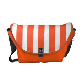 Orange and White Stripes Vintage Pattern Courier Bags