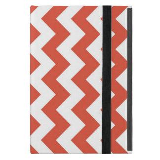 Orange and White Zigzag Covers For iPad Mini