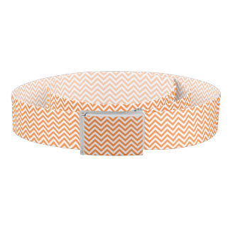 Orange and White Zigzag Stripes Chevron Pattern Belt