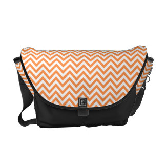 Orange and White Zigzag Stripes Chevron Pattern Commuter Bag