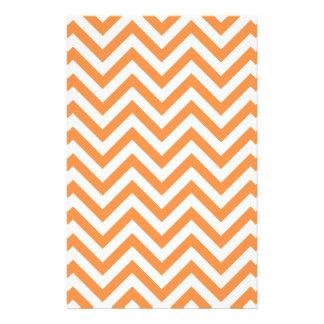 Orange and White Zigzag Stripes Chevron Pattern Flyer