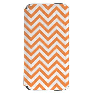 Orange and White Zigzag Stripes Chevron Pattern Incipio Watson™ iPhone 6 Wallet Case