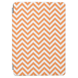 Orange and White Zigzag Stripes Chevron Pattern iPad Air Cover