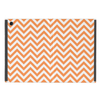 Orange and White Zigzag Stripes Chevron Pattern iPad Mini Cover