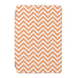 Orange and White Zigzag Stripes Chevron Pattern iPad Mini Cover