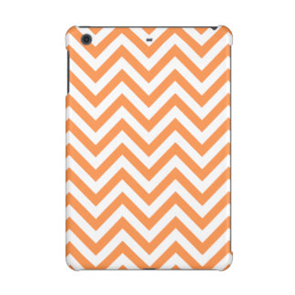 Orange and White Zigzag Stripes Chevron Pattern iPad Mini Retina Cover
