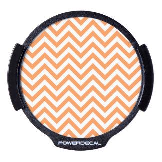 Orange and White Zigzag Stripes Chevron Pattern LED Window Decal