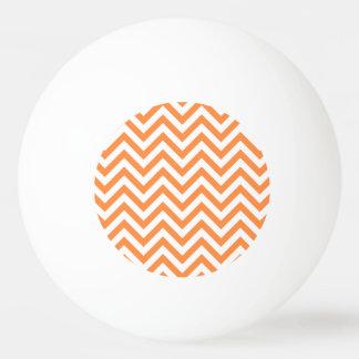 Orange and White Zigzag Stripes Chevron Pattern Ping Pong Ball