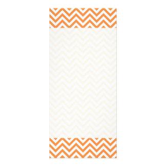 Orange and White Zigzag Stripes Chevron Pattern Rack Card