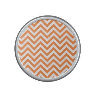 Orange and White Zigzag Stripes Chevron Pattern Speaker