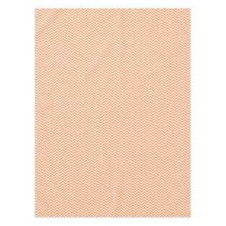 Orange and White Zigzag Stripes Chevron Pattern Tablecloth