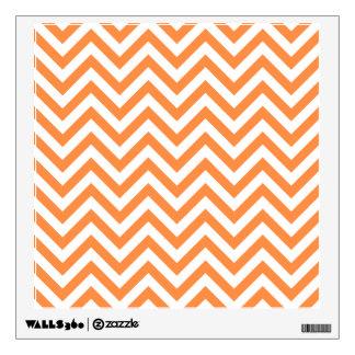 Orange and White Zigzag Stripes Chevron Pattern Wall Decal