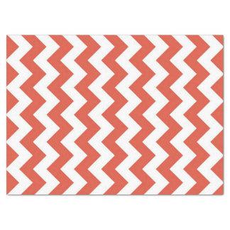 Orange and White Zigzag Tissue Paper