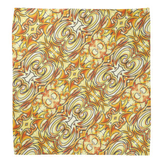 Orange and Yellow Brushstrokes-Hand Painted Print Bandana