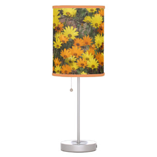 Orange and Yellow Daisies Table Lamp