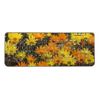 Orange and Yellow Daisies Wireless Keyboard