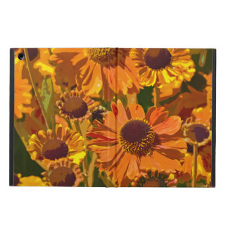 Orange and yellow echinacea flowers ipad air case
