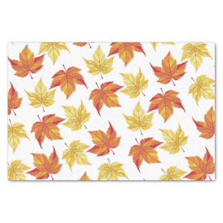 Orange and Yellow Fall Leaves Tissue Paper