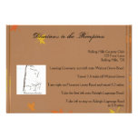 Orange and Yellow Fall Leaves Wedding Directions Personalized Announcements
