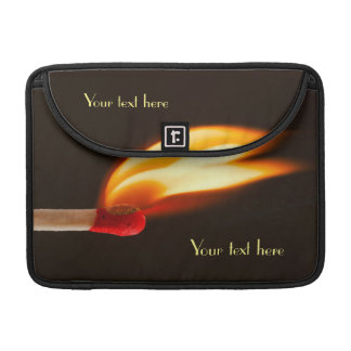 Orange and Yellow Fire Flame MacBook Pro Sleeves