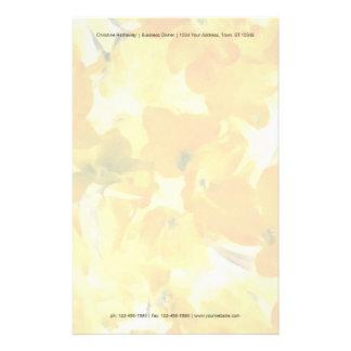 Orange and yellow flowers customized stationery