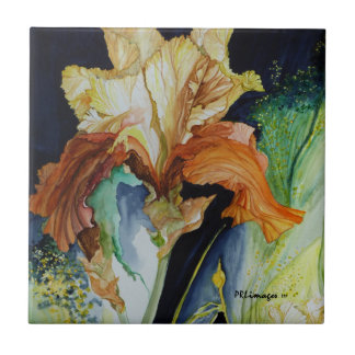 Orange and Yellow Iris Tile
