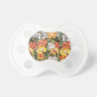 Orange and Yellow Paper Flowers on Pacifier