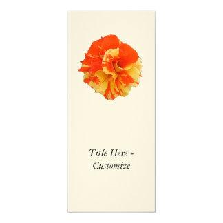 "Orange and Yellow Rose 4"" X 9.25"" Invitation Card"