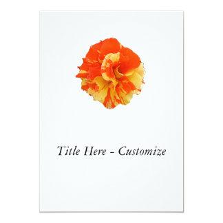 "Orange and Yellow Rose 5"" X 7"" Invitation Card"