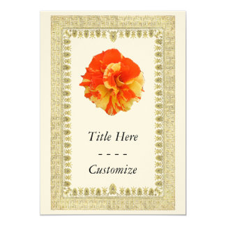Orange and Yellow Rose Card