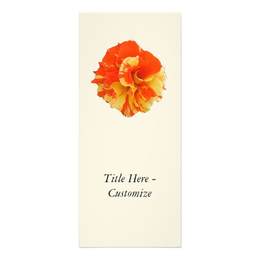 Orange and Yellow Rose Personalized Announcements