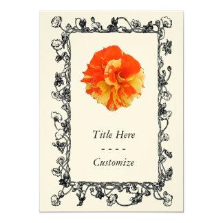 Orange and Yellow Rose Custom Invitations