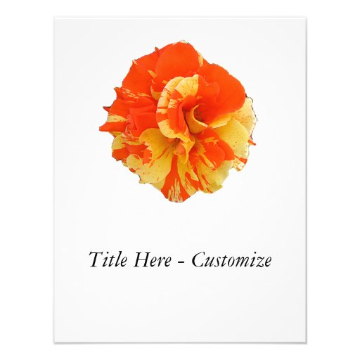 Orange and Yellow Rose Invitations