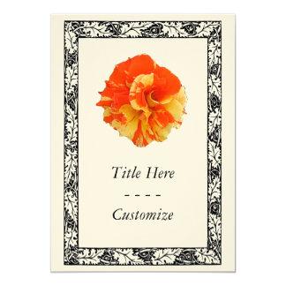 Orange and Yellow Rose 5x7 Paper Invitation Card