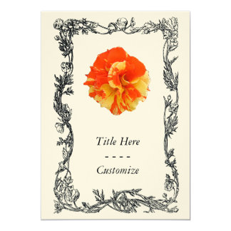 Orange and Yellow Rose Invitation