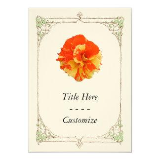 Orange and Yellow Rose Invite