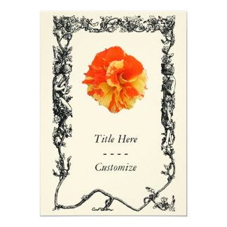 Orange and Yellow Rose Personalized Invitations