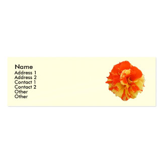 Orange and Yellow Rose Pack Of Skinny Business Cards