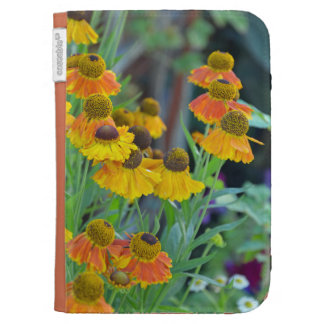 Orange and yellow rudbeckia flowers kindle folio case for kindle