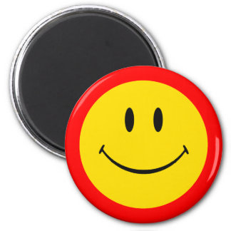 ORANGE AND YELLOW SMILEY FACE MAGNET