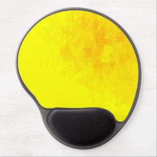 Orange and yellow splatter gel mousepad